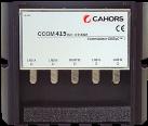 CAHORS Commutateur DiSEqC - 4 x entrées SAT - Noir