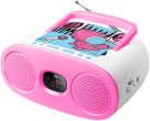 muse M-20 KDG - Tragbarer Radio CD Player - FM/MW Analog Radio - Blau/Pink