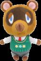 Animal Crossing: Tanukichi/Tom Nock - Plüsch 20 cm