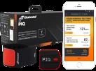 PIQ TENNIS SET – Multisport Sensor und Zubehör - LED-Display - Schwarz/Rot