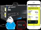 PIQ KITE SET – Multisport Sensor und Zubehör - LED-Display - Schwarz/Rot