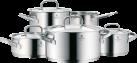 WMF Topfset Gourmet Plus - für Induktionsherde - 5 tlg. - Silber
