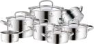 WMF Topfset Gourmet Plus - für Induktionsherde - 7 tlg. - Silber