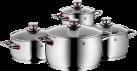 WMF Quality One - Batterie de cuisine - 4 pièces - Argent