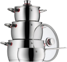 WMF Quality One - Kochgeschirr-Set - 4-teilig - Silber