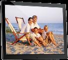 """Braun Photo DigiFrame 1581 - Digitale Bilderrahmen - 15"""" TFT LCD Display - Schwarz"""
