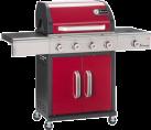 LANDMANN Triton PTS 4.1 - Gaz grill panier - 3 kW - Rouge/Acier inoxydable
