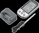 LANDMANN 13625 - Funkthermometer - Extra grosse Display - Silber/Grau