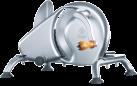 GRAEF Manuale H9 - Affettatrice - Rimovibili scivoli in acciaio inox - argento
