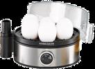 ROMMELSBACHER ER 400 - Eierkocher - für die Zubereitung von 1 - 7 Eier - Schwarz / Silber