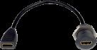 in-akustik Premium HDMI Doppelkupplung (rund) - 25 cm - Schwarz