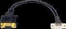 in-akustik Premium VGA Einbaudoppelkupplung - 25 cm - Schwarz