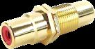 in-akustik 0090802002 Premium Cinch Double couplage de montage - Connecteur - Or