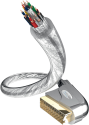 in-akustik Premium Scart - Cavo Scart - 1 m - Transparent