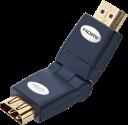 in-akustik Premium HDMI Winkeladapter - 360° - Schwarz/Gold