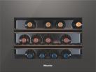 Miele KWT 6112 iG - Cave à vin à encastrer - Volume utile total: 46 l - Gris