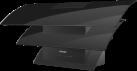 Miele DA 7198 W EXT Triple - Wand-Dunstabzugshaube - A++ -  Schwarz