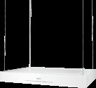 Miele DA 6708 D Aura Edition 6000 - Hotte pour îlot - Max. Puissance d'aspiration 620 m3/h - Blanc