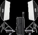 Metz mecastudio Kit II BL-400 SB - L'éclairage de studio - Avec sac pratique - Noir/Blanc