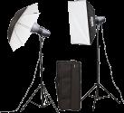 Metz mecastudio BL-200 SB / UM-Kit II - L'éclairage de studio - Avec sac pratique - Noir/Blanc