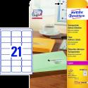 AVERY Zweckform Adressetiketten, 63.5 x 38.1 mm, 525 Etiketten