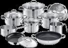 Silit Achat Set de batteries de cuisine - 10-pièces - Acier inoxydable - Argent