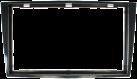 aiv Einbau Blende Doppel-DIN - Für OPEL - Schwarz
