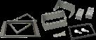 aiv Einbau Blende Doppel-DIN - Für FORD - Silber