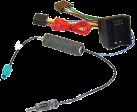 aiv Adapter Kabel ISO - Für Audi/Opel/Seat/Skoda/Volkswagen - Schwarz/Rot