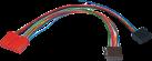 aiv Adapter Kabel ISO - Für RENAULT 19/CLIO/E SPACE/TWINGO - Schwarz/Rot