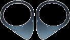 aiv Lautsprecher Montage Adapter DIN 165 - Für Fiat - Schwarz