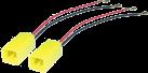 aiv Lautsprecher Adapter Kabel - Für Alfa Romeo/Citroen/Fiat/Lancia - Schwarz/Rot/Gelb