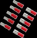 aiv Flachsteckhülsen 2.8 / 4.8 mm - Bis 1.0 mm² - Rot