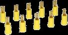 aiv Flachsteckhülsen Set - Vergoldet - Gelb