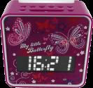 soundmaster UR270 - UKW Uhrenradio - Mit Nachtlicht-Automatik - Pink