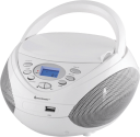 Soundmaster SCD3750WS - Radiocassette CD - Connexion USB -Blanc