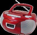 soundmaster SCD 5750RO - Boombox stéréo - Lecteur CD- rouge
