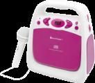 Soundmaster KCD50PI - Karaoke CD-Player - USB - Pink/Weiss