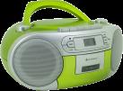 soundmaster SCD5410GR - Stereo Boombox - Mit CD-Player/Kassetten-Laufwerk/FM-Tuner - Grün