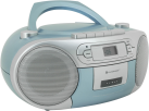 soundmaster SCD5410BL - Stereo Boombox - Mit CD-Player/Kassetten-Laufwerk/FM-Tuner - Blau