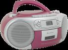 soundmaster SCD5410PI - Stereo Boombox - Mit CD-Player/Kassetten-Laufwerk/FM-Tuner - Pink