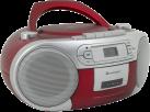soundmaster SCD5410RO - Stereo Boombox - Mit CD-Player/Kassetten-Laufwerk/FM-Tuner - Rot