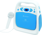 Soundmaster KCD50BL - Karaoke CD-Player - USB - Blau/Weiss