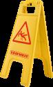 LEIFHEIT Professional Warnschild - Mit Aufhängehaken - Gelb