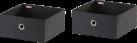 LEIFHEIT Contenitori - Set di 2 - Piccoli - Nero
