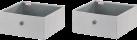 LEIFHEIT Contenitori - Set di 2 - Piccoli - Grigio