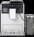 Melitta F630-101 CI Touch - Macchina da caffè automatiche - Con sistema di preparazione del latte rimovibile - Argento/Nero