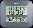 Mebus Funkwanduhr digital, schwarz
