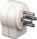 hama Telefon-Adapter, Stecker 4-pol. - 2x T+T-Kupplung