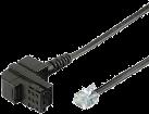 hama Modem-Anschlusskabel, T+T-Stecker - Modular-Stecker 6p4c, 10 m